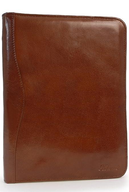 Ashwood Leather A4 Zip Folder - Chestnut