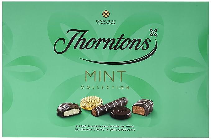 Thorntons menta Chocolate Colección, 282g