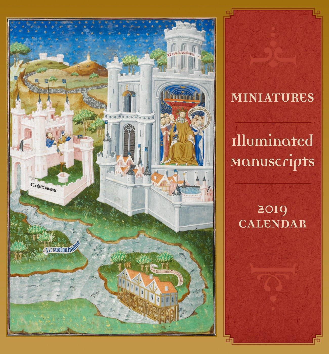 miniatures illuminated manuscripts 2019 mini wall calendar