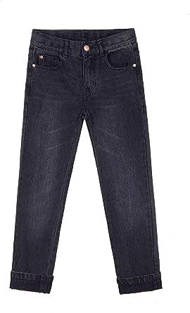 Bienzoe Niño Algodón Pantalones Vaqueros Cintura Ajustable Pantalon