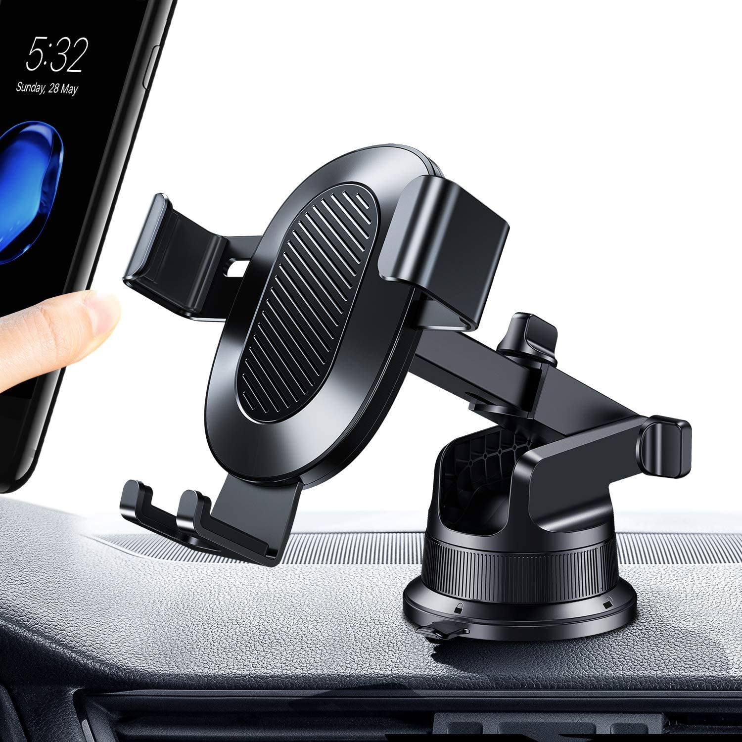 TORRAS Gravity Car Phone Holder Samsung Galaxy S20 Ultra// S10// S9// Note 20 2020 PowerBase Cell Phone Mount for Car Dashboard /& Windshield Compatible for iPhone SE// 11 Pro// 11 Pro Max//Xs//X// 8