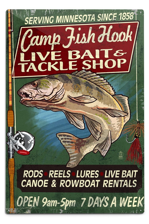 品質満点 ミネソタ x – Camp魚フックVintage ミネソタ Sign 24 x 36 Metal Giclee Print LANT-41190-24x36 B06Y1GJL9S 12 x 18 Metal Sign 12 x 18 Metal Sign, リカーショップたかはしweb:4f7479fb --- aikurei.co.jp