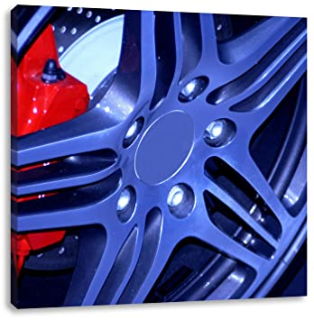 Coole Tuner Felgen Format 70x70 Auf Leinwand Xxl Riesige Bilder
