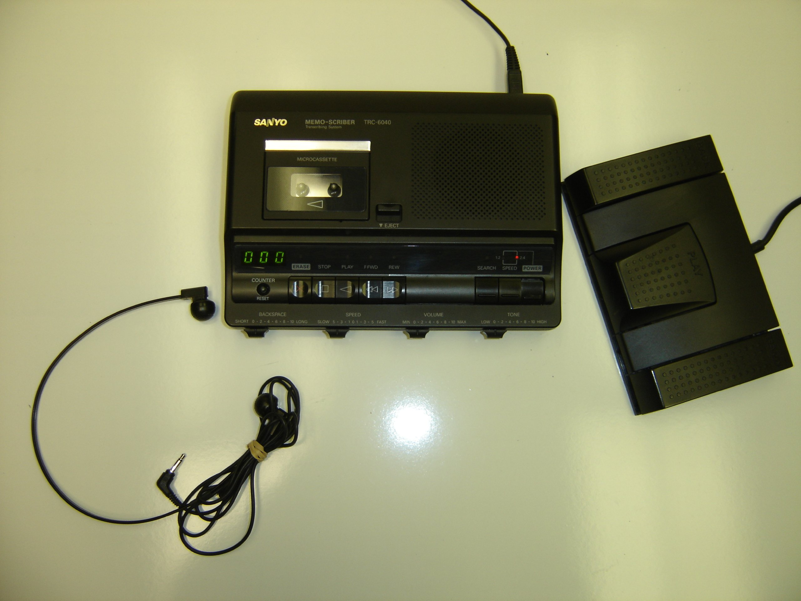 Sanyo TRC-6040 - Microcassette transcriber - black