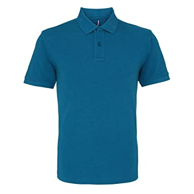 Asquith & Fox Asquith and Fox Mens Polo, Verde (Teal Heather 000 ...