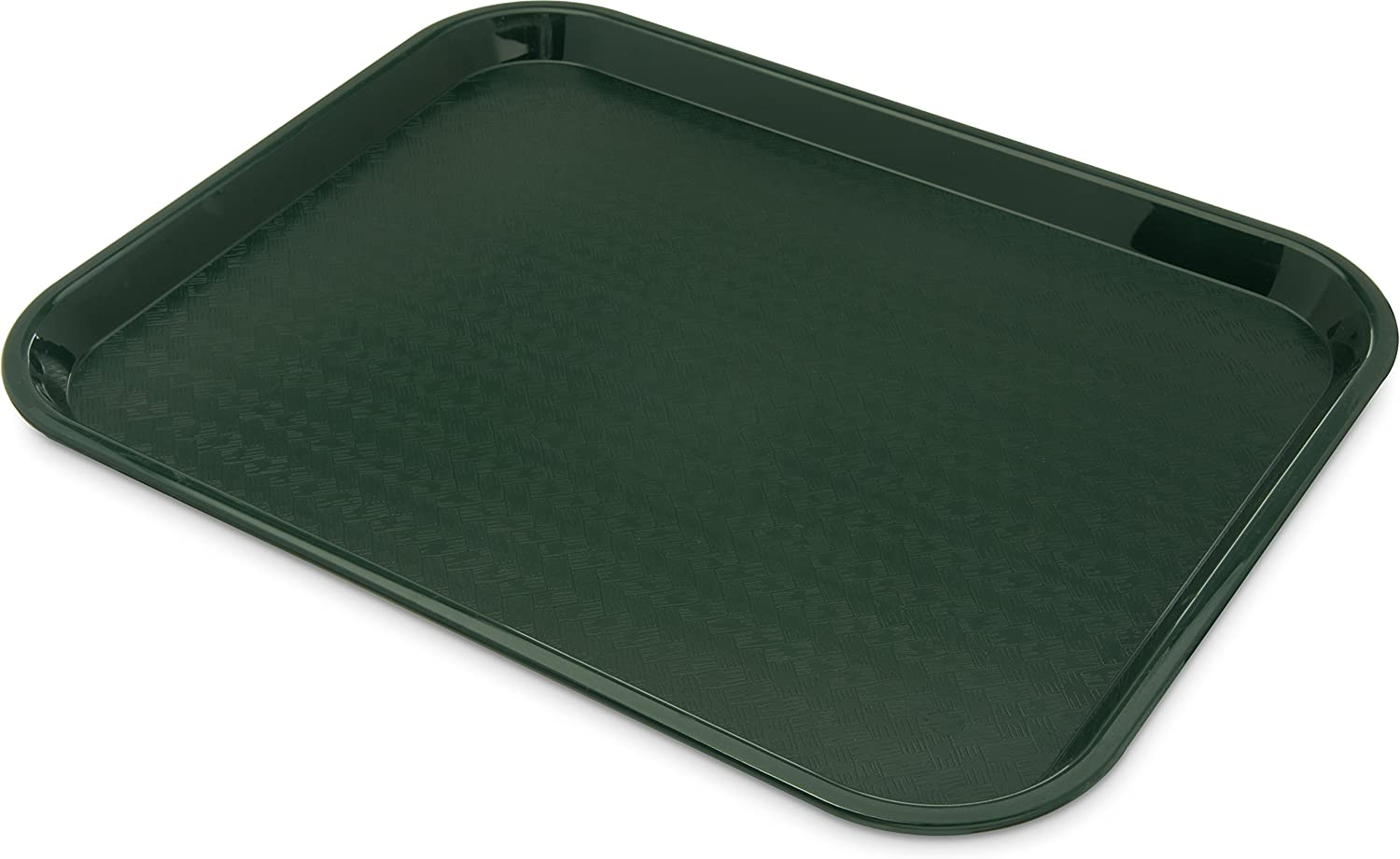"Carlisle CT141808 Café Standard Cafeteria / Fast Food Tray, 14"" x 18"", Forest Green (Pack of 12)"