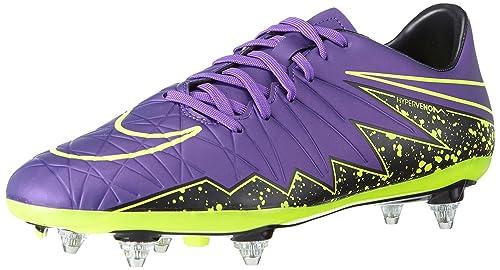 ade099b1f01 NIKE Men s Hypervenom Phelon II SG Football Training Shoes Purple Size  7.5  UK