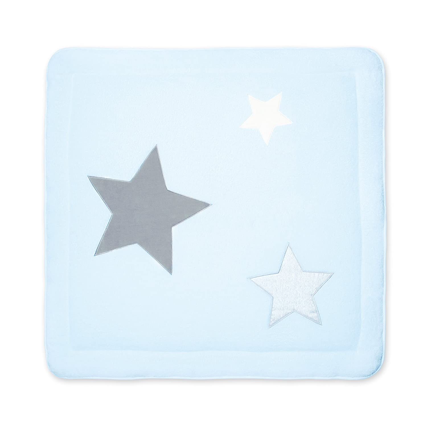 Bemini by Baby Boum Tappeto di parco Softy Stary 61 Frost – 100 x 100 cm