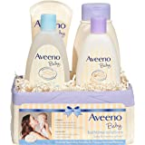 Aveeno Baby Daily Bathtime Solutions Gift Set including Baby Wash & Shampoo, Baby Calming Bath, Baby Moisturizing Lotion and