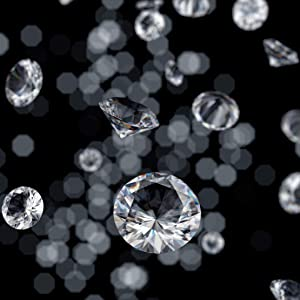 """CYS EXCEL 1/2"""" Acrylic Clear Diamond Vase Fillers (1 LB, Approx. 240 PCS) 