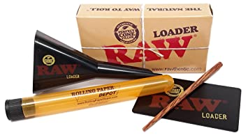 Includes Card and Poker NEW RAW Cone Loader//Filler *Lean /& 1 1//4 Sizes*