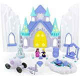 Boley Ice Castle Princess Dollhouse - 26 Piece Doll House Toy Playset with Large Light and Sound Castle, Little…