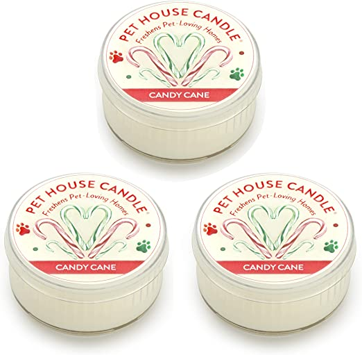 Odor Eliminator One Fur All Pet House Mini Candle 3 Pack 6 Fragrance Options