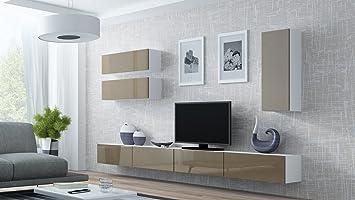 Wohnwand VIGO 13, Anbauwand, Wohnzimmer Möbel, Hochglanz !
