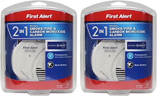 First Alert NBsDH 2-in-1 Z-Wave Smoke Detector Carbon Monoxide Alarm 2 Pack