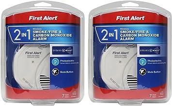 Z-Wave Combo First Alert ZCOMBO 2-in-1 Smoke Detector /& Carbon Monoxide Alarm