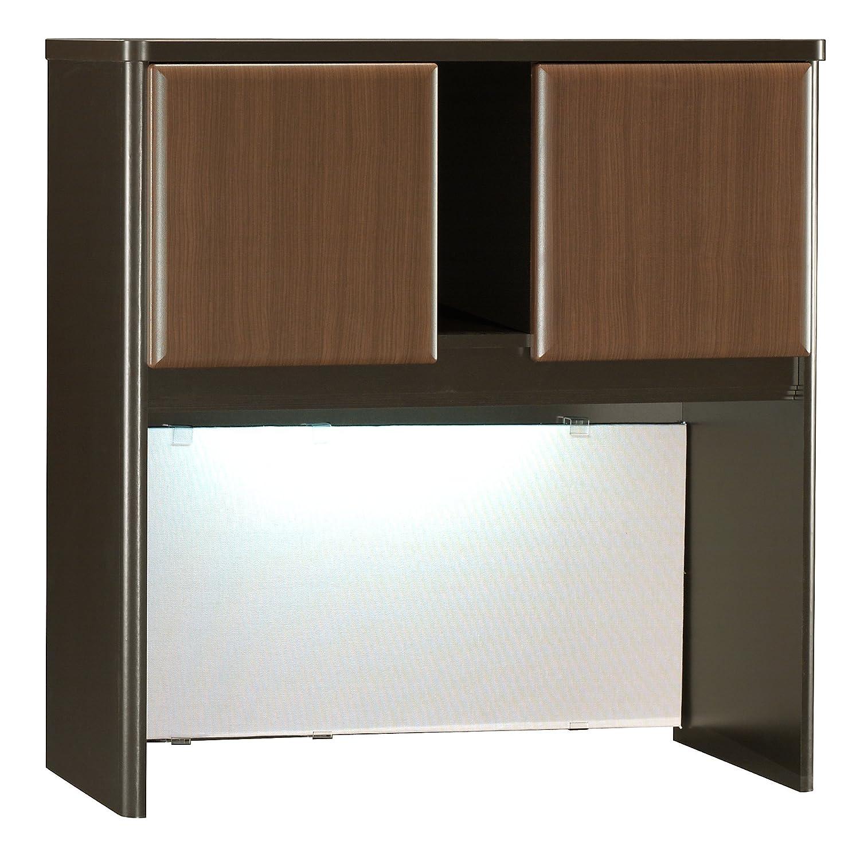 Bush Business Furniture Series A Collection 36W Hutch in Sienna Walnut Bronze