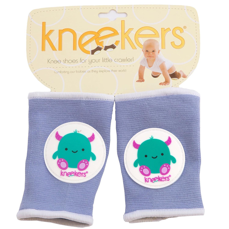 Kneekers Rodilleras para beb/é dise/ño de monstruo feliz azul Talla:Large