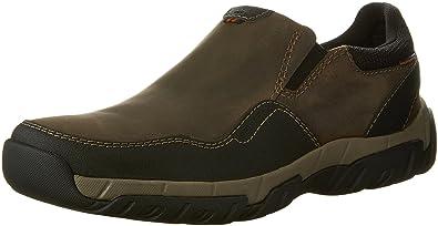 Clarks Men's Walbeck Style Slip-on Sneaker,Olive Waterproof Leather,US 8.5 M