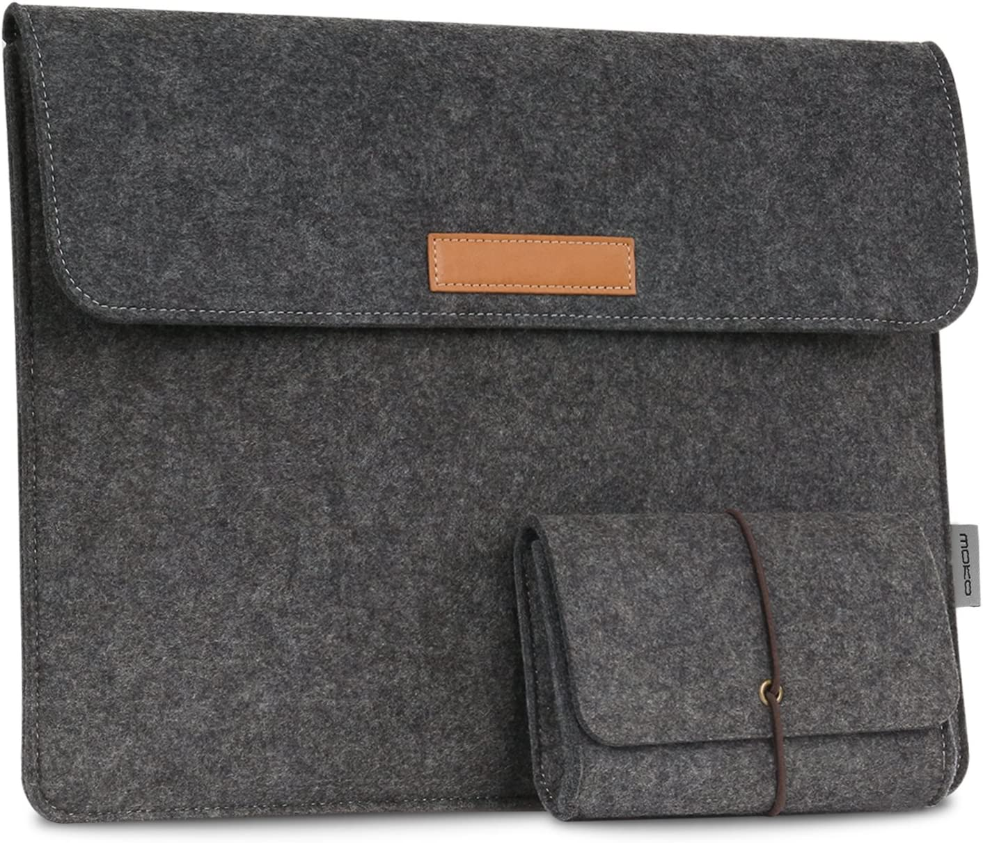 "MoKo 13-13.3 Inch Laptop Sleeve Case Fits MacBook Air 13-inch Retina, MacBook Pro 13"", Dell XPS 13, Samsung Notebook 9 13.3"" HP Asus Acer Notebook Computer with Small Felt Accessory Bag - Dark Gray"