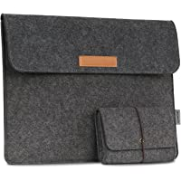 MoKo Felt Sleeve Bag, Protective Case Cover, for New Surface Pro 2017 / Pro 3 / Pro 4 12 Inch/MacBook Air 11.6 Inch/Samsung Galaxy TabPro S 12 Inch, with Small Felt Bag - Dark Gray