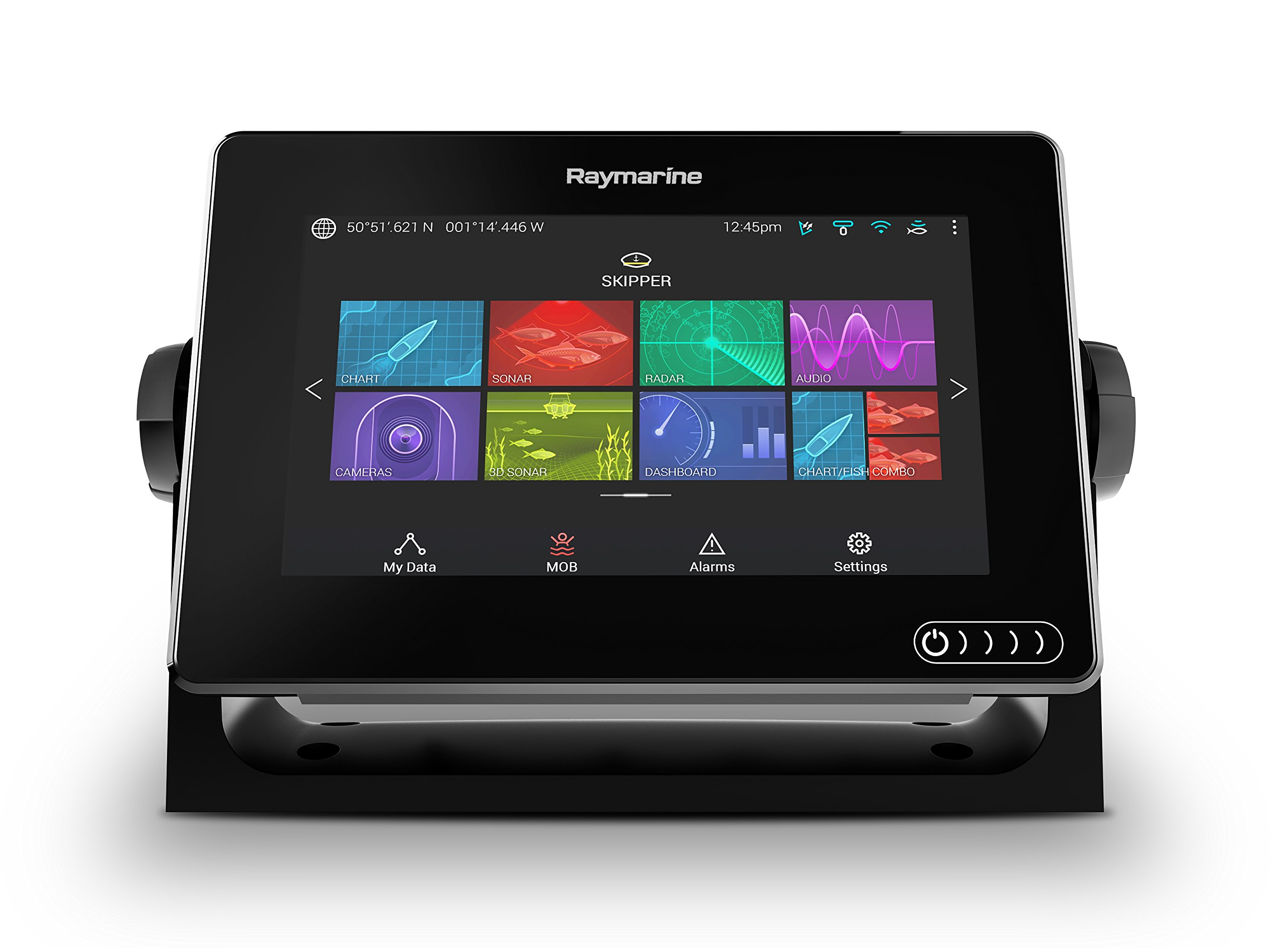 Raymarine Axiom 9 Fish Finder with built in GPS, Wifi, CHIRP Sonar and RealVision 3D with Transducer and Navionics+