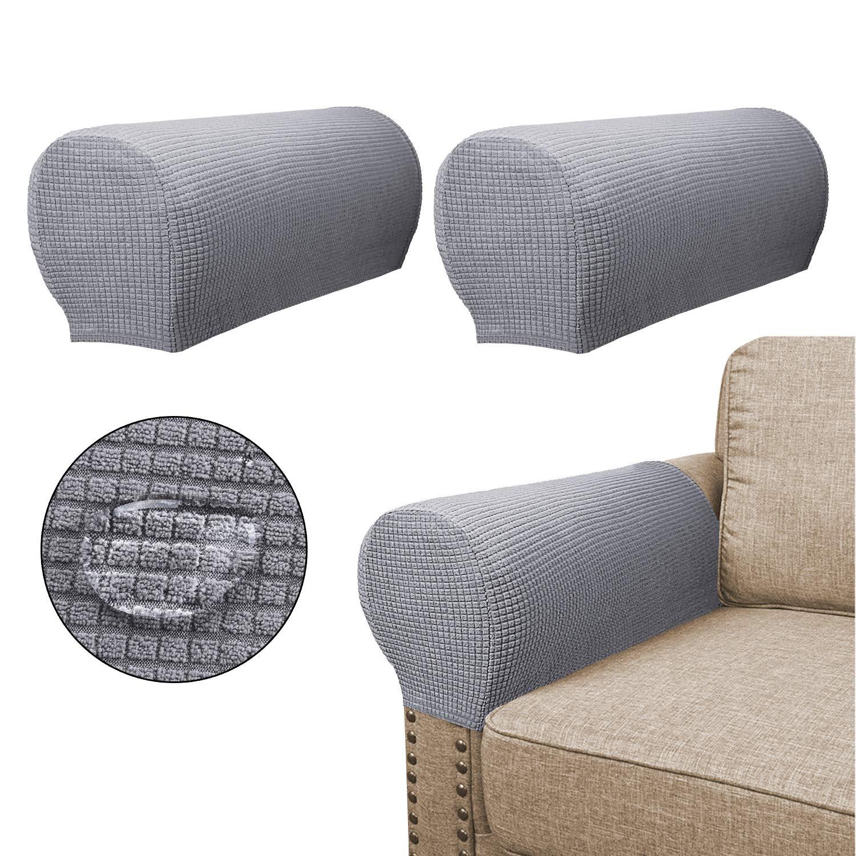 Amazon Com Sofa Armrest Covers 2 Pieces Set Water Repellent Anti
