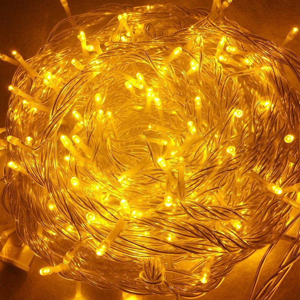 GOODGOODS LED イルミネーション ライト クリスマス 飾り LED電飾 (500球30m×2個セット) メモリー機能搭載 防水 黄色 LD66 イエロー B01N8WSTSW 11016