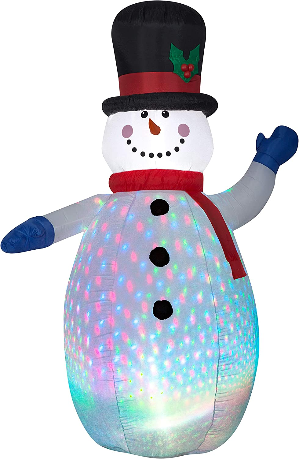 Gemmy Projection Color Flash Snowman 6.5 Foot LED Light, Airblown, Inflatable, Ft