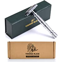 VIKINGS BLADE The Vulcan Safety Razor + Swedish Platinum Super Blades + Carry Case