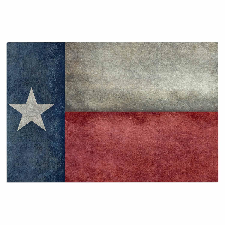 2 x 3 Floor Mat Kess InHouse Bruce Stanfield Texas State Flag Vintage Digital Decorative Door