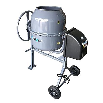 Switzer 240V Volt 550W Portable Electric Concrete Cement Mixer Mortar  Plaster Machine Capacity 120L Litre Drum Mouth Diameter 340mm