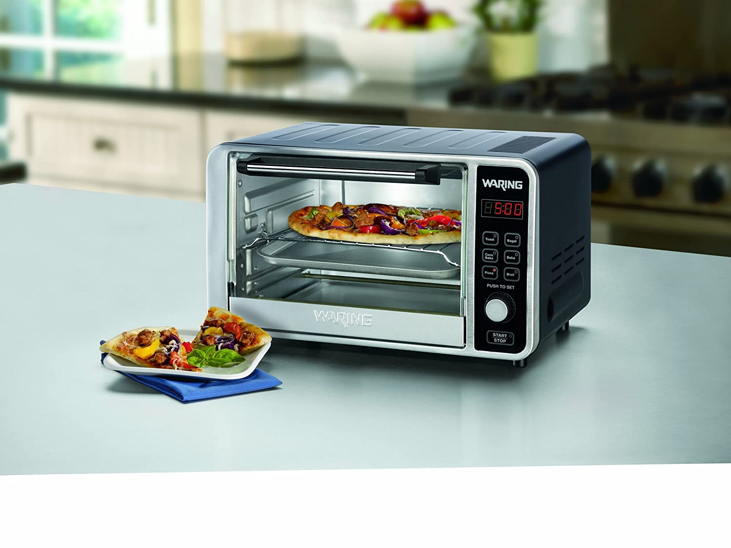 Amazon.com: Waring Stainless Steel Digital Convection Toaster Oven ...