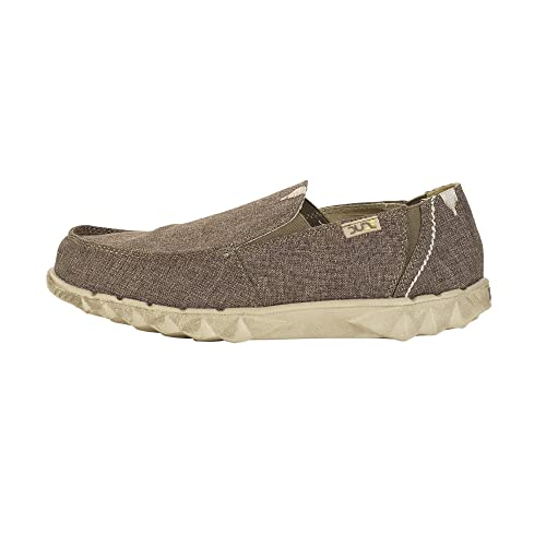 Farty Linen Chocolate Canvas Slipons Shoes-7 Hey Dude qcmOnV9