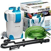 AquaFlow Technology AEF-303UV - Filtro externo, 35 W, 1400 l/h, con UV UVC 9 W, para acuario de agua dulce o salada…