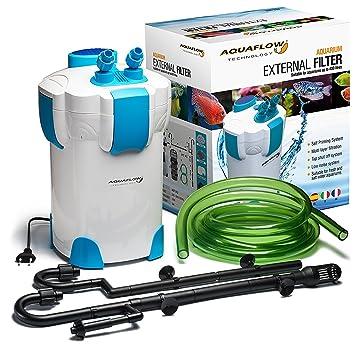 Aquaflow Technology® AEF-303UV Filtro externo 35W 1400L/H CON UV UVC 9W del tanque de pescados del acuario Max 300L: Amazon.es: Jardín