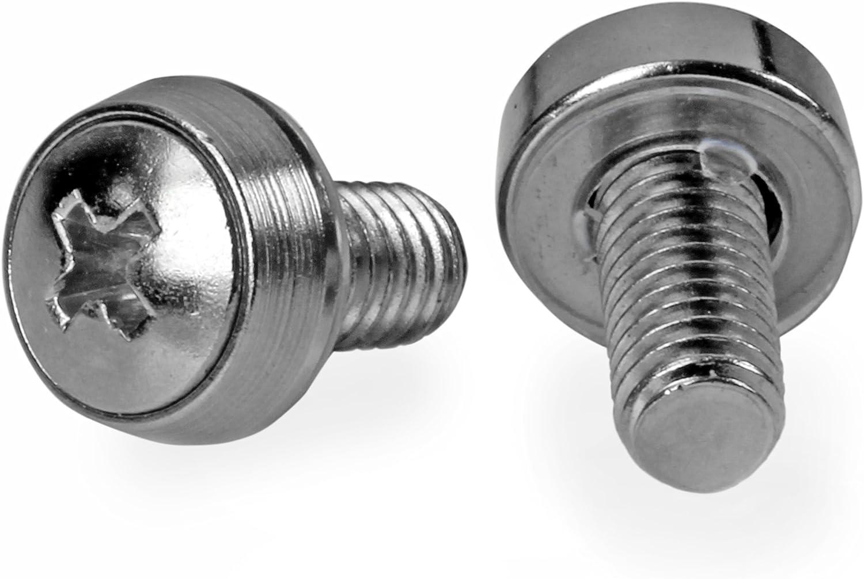 StarTech.com M6 x 12mm - Screws - 100 Pack - M6 Mounting Screws for Server Rack & Cabinet (CABSCREWSM62)