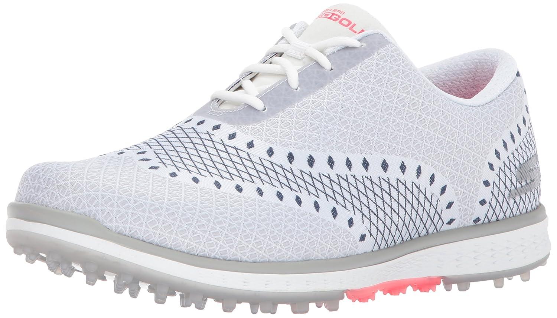 Skechers Women's Go Golf Elite Ace Jacquard Golf Shoe B06XVXQLCF 7.5 B(M) US|White/Navy