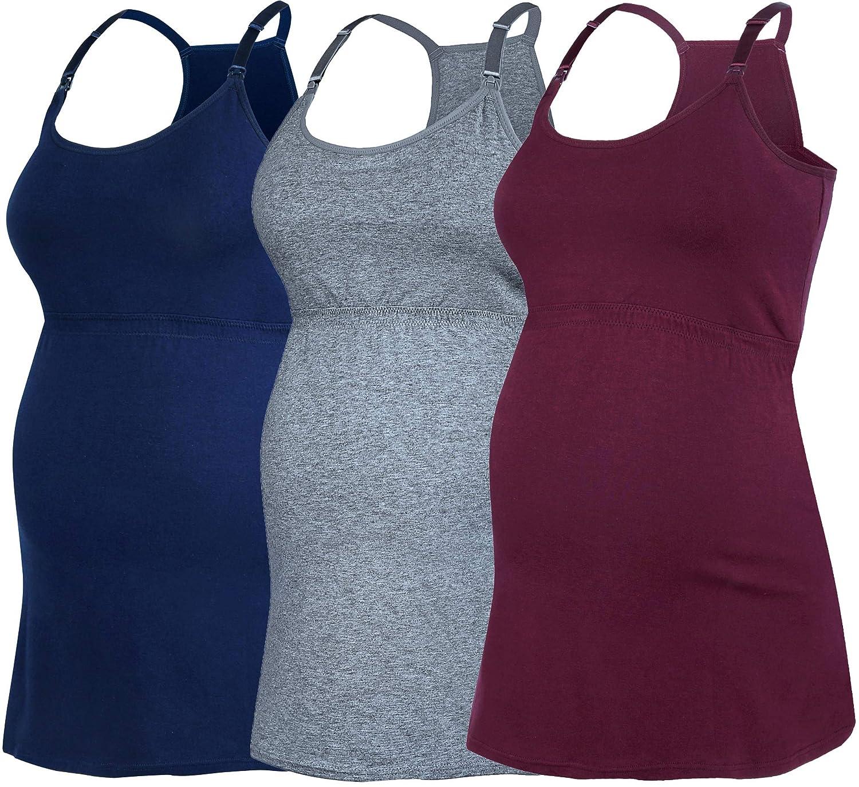 SUIEK Womens Nursing Tank Top Cami Maternity Bra Breastfeeding Clothes