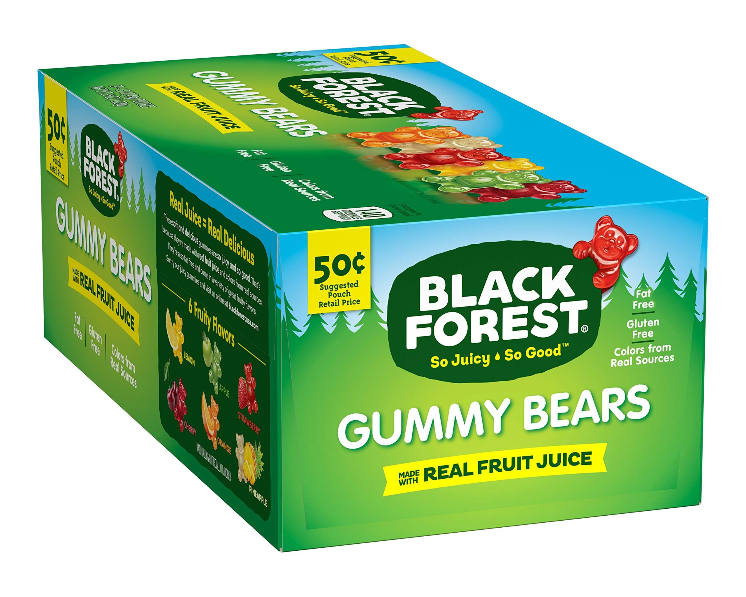 Black Forest Gummy Bears Candy, 1.5 Ounce (Pack of 24) by Black Forest
