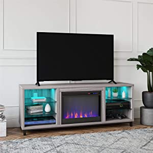 Ameriwood Home Lumina Fireplace TV Stand for TVs up to 70