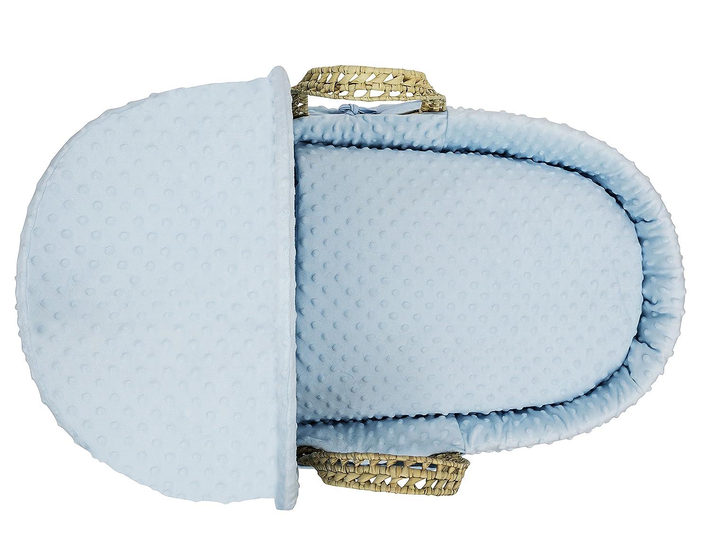 Kinder Valley Palm Moses Basket Blue Dimple