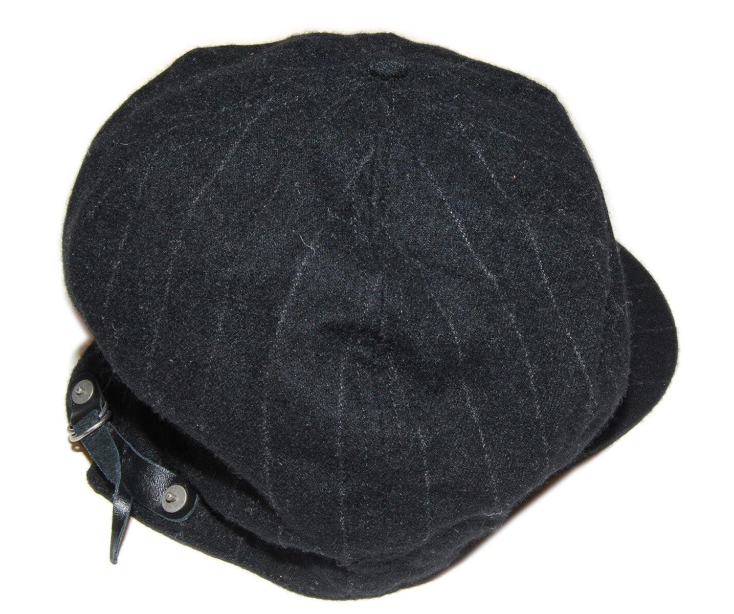 1fd1b3b19 Ralph Lauren Rugby Mens Vintage Wool 1920 s Newsboy Pinstripe Hat Cap Black  S M at Amazon Men s Clothing store