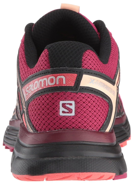 Salomon Women's X-Mission 3 W-w Punch/Black B01N1J0UME 8.5 B(M) US|Sangria/Coral Punch/Black W-w 695255