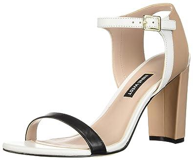90b0cb583fc2 Nine West Women s NEMBLE Leather Heeled Sandal Black Multi 5 ...