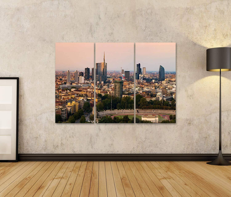 Quadro Moderno Nuove Costruzioni e Skyline a Milano Italia Stampa su Tela Quadri x Salotto Cucina mobili Ufficio casa PLF-1K-N islandburner