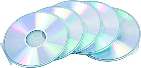 Fellowes 9834201 - Pack de 5 Cajas Estuche para CDs/DVDs ...