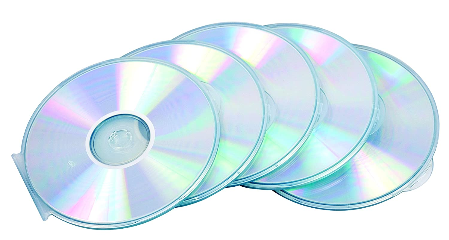 Amazon.com: FELLOWES ROUND SLIM CD CASE 5PK CLEAR: Computers & Accessories