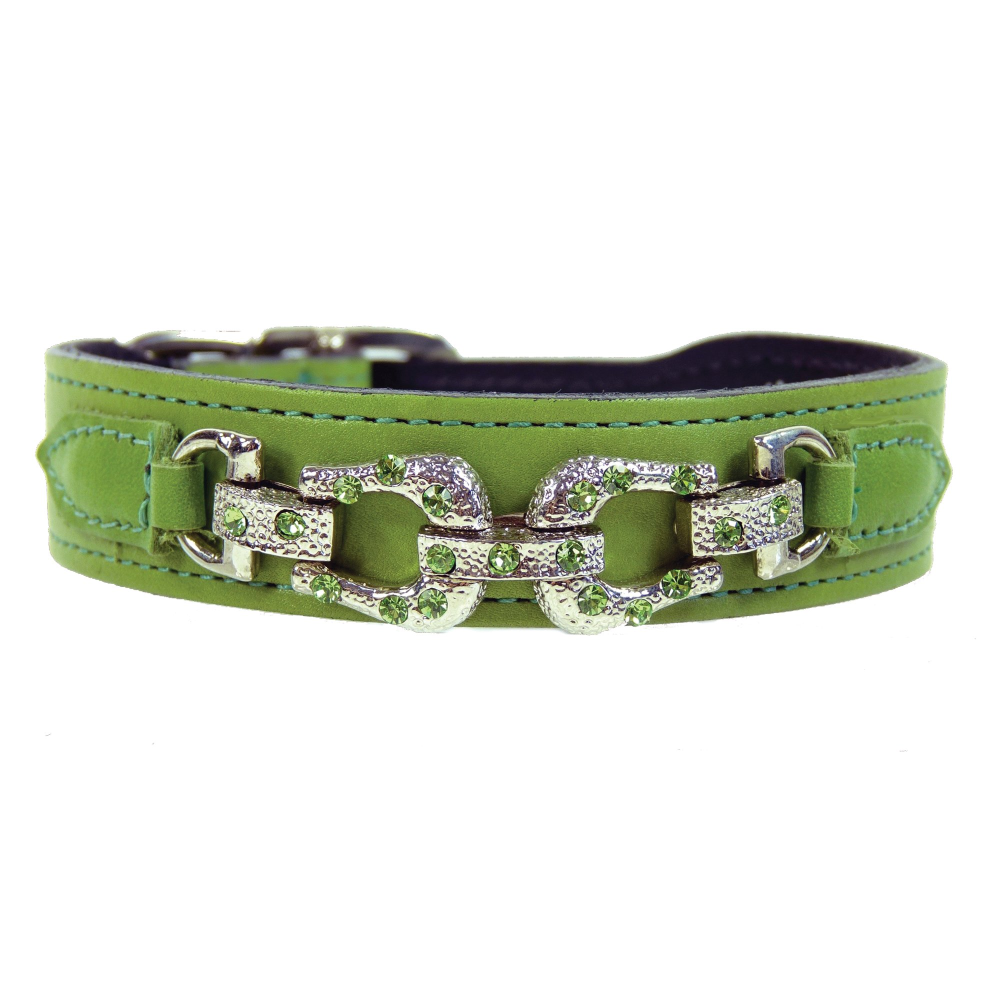 Hartman & Rose Pret a Porter Dog Collar, Large, Lime Green by Hartman & Rose