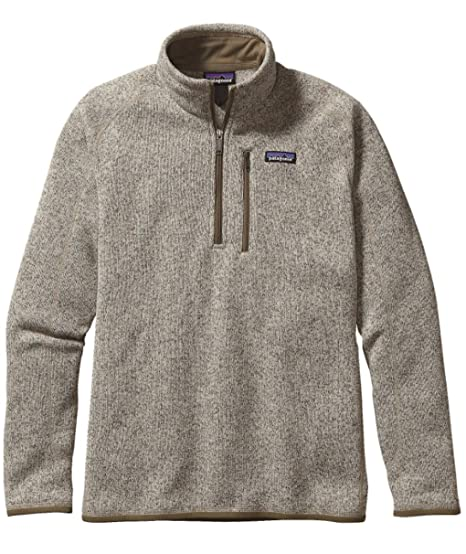 a8ac042f76685 Patagonia Men's Better Sweater 1/4 Zip Jacket Bleached Stone 25522 ...